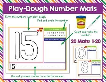 Play-Dough Number Mats 1-20