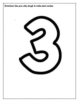Play Dough Number Mats