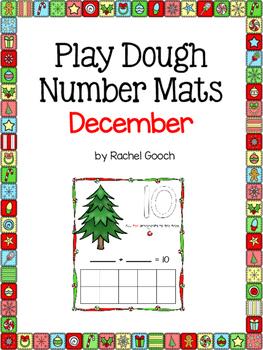 Play Dough Number Mats- Christmas