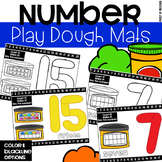 Play Dough/Playdough Number Mats - Fine Motor Fun!