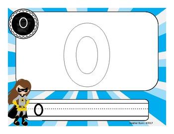 Play Dough Number Mats Super Hero Theme