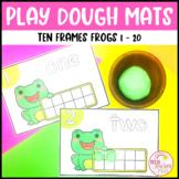 Play Dough Number Mats Ten Frames Frogs 1 to 20