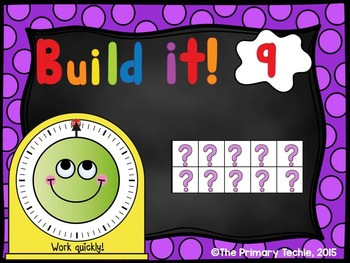 Play Dough Number Sense - PowerPoint Engagement - Ten Frames