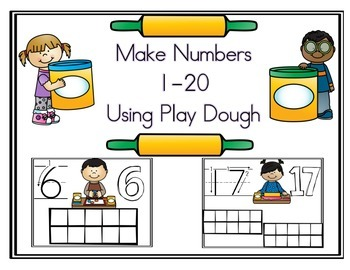 Play Dough Numbers 1-20