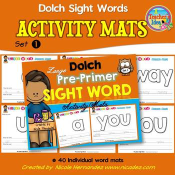 Playdough (Playdoh) 40 Pre-Primer Dolch Sight Words Mouldi