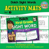 Playdough (Playdoh) 41 First Grade Dolch Sight Words Moulding (Molding) Mats