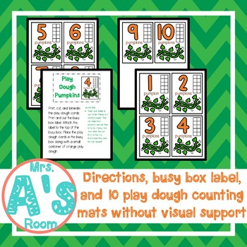 Play Dough Pumpkins Counting Busy Box
