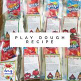 Play Dough Recipe Tag