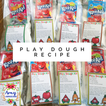 Play Dough Recipe Tag