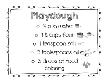 Play Dough Recipe(Visual for Small Groups)