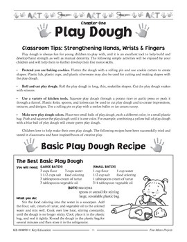 Back to School Play Dough Recipe and Activities Grades PK-K