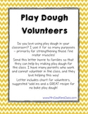 Play Dough Recipe and Volunteer Letter