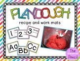 Play Dough Recipe and Work Mats