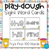 Play-Dough Sight Word Cards *Fry's First 100 Words*