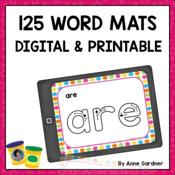 Play Dough Sight Word Mats to Make Learning Alphabet Sounds and Letters Fun!