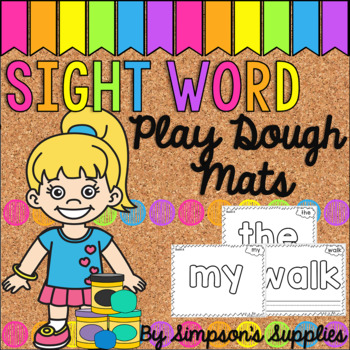 Play Dough Sight Word Mats