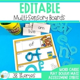 Editable Sight Word Play Dough Mats