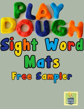 Play Dough Sight Word Mats | Sight Word Practice | Word Work Center
