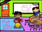 Arts & Craft Play Dough Sight Word Mats! Pre-Primer List