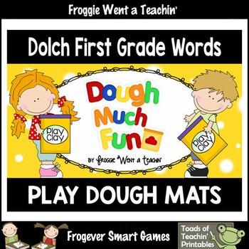 """Play Dough Sight Words--Dolch First Grade Play Dough Mats """"Dough Much Fun"""""""