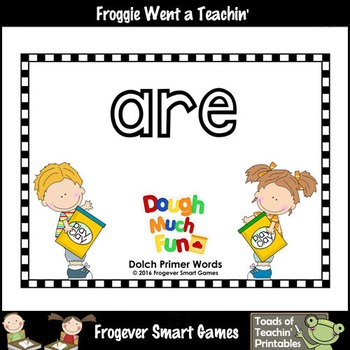 "Play Dough Sight Words--Dolch Primer Play Dough Mats ""Dough Much Fun"""
