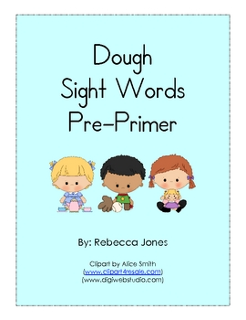 Play Dough Sight Words Pre-Primer