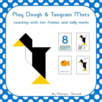 Play Dough & Tangram Mats – Counting with ten frames and tally marks - 2