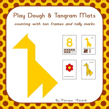 Play Dough & Tangram Mats – Counting with ten frames and tally marks - 3