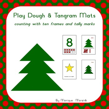 Play Dough & Tangram Mats – Counting with ten frames and t