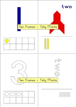 Play Dough & Tangram Mats – Counting with ten frames and tally marks - 4