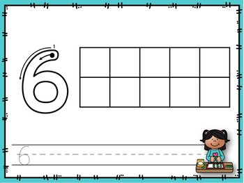 Play Dough Ten Frames 1-20 Color and Black and White