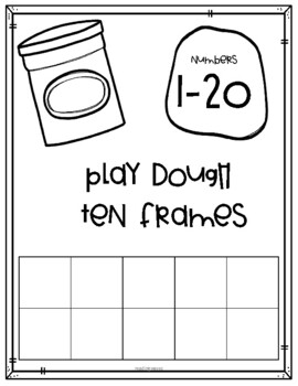 Play Dough Ten Frames Numbers 1-20