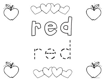 Sight Words - Color Words - Play Dough Tracing - Have Fun Coloring, Painting