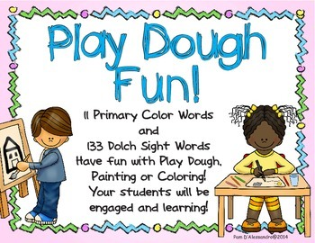 Sight Words - Color Words - Play Dough Tracing - Have Fun