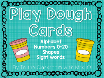 Play Dough Work Cards