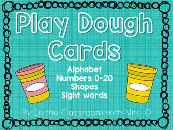 Play Dough Word Work Cards
