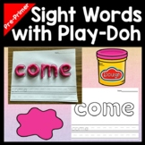 Kindergarten Literacy Centers with Play Dough {40 Words!}