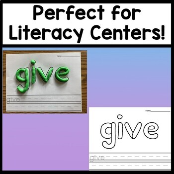 First Grade Literacy Centers with Play-Doh {41 words!}