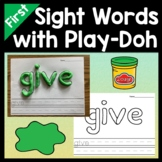 First Grade Literacy Centers with Playdough {41 words!}