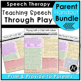 Play Handout Bundle 3: Promoting Speech and Language Development