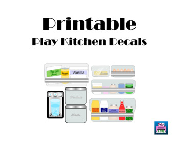 Play Kitchen Refrigerator Dramatic Play Printable Decals