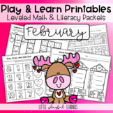 Play & Learn Leveled Printables: February