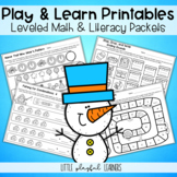 Play & Learn Leveled Printables: January