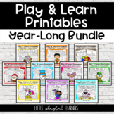 Play & Learn Printables Year-Long Bundle {GROWING}