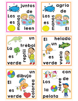 Make a Sentence in Spanish {Card Game}