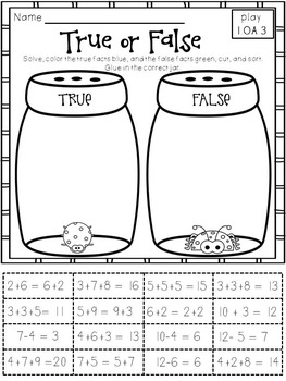 Play-Practice-Prove! First Grade Common Core: Operations & Algebraic Thinking