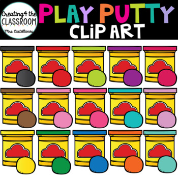 Playdough Clip Art {School Clip Art}