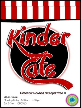 Play Restaurant Menu- For use in your classroom kitchen! (kids only)red/black