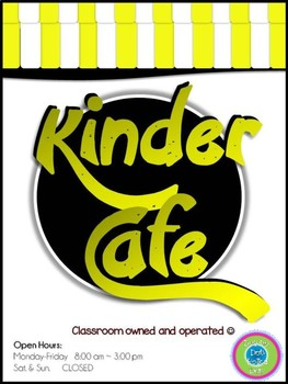 Play Restaurant Menu- For use in your classroom kitchen! (kids only)yellow/black