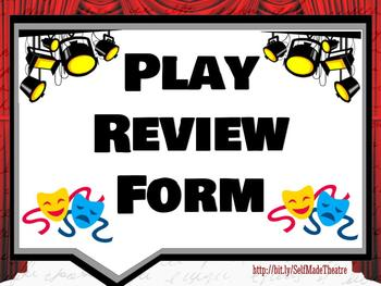 Play Review Form